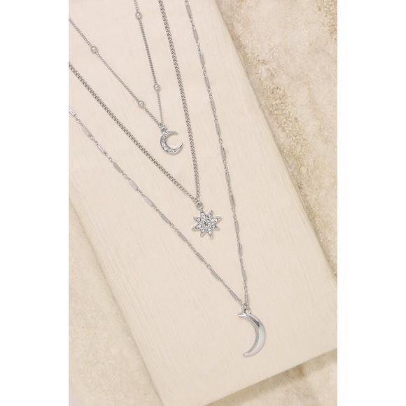 Ettika Night Sky Necklace Set in Rhodium